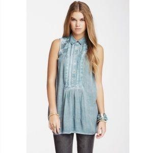 Free People turquoise tunic size XS